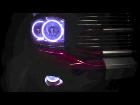 2006 Dodge Ram Halo Headlights 2006-2008 Dodge Ram Dual Color