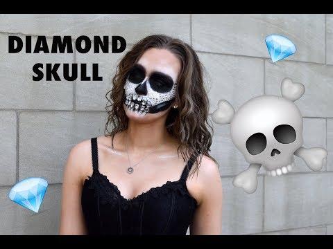 SEXY DIAMOND SKULL HALLOWEEN TUTORIAL
