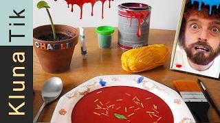 EATING PAINT SOUP!! Kluna Tik Dinner #52 | ASMR eating sounds no talk