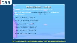 Measurement – Length for kid math