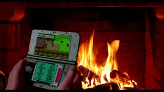 You're playing Pokemon Platinum by the fire during a storm while your family talks in the other room