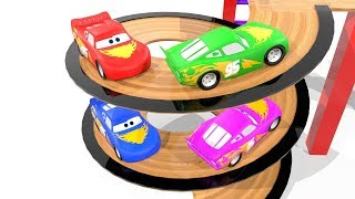 Turning Wooden Springboard and Colorful Mcqueens Toddler Learning Video Bonny Kids