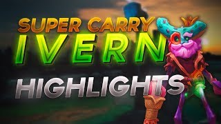 Super Disco Ivern Carry! Ivern Jungle Gameplay Highlights - Ranked Solo Q Season 8