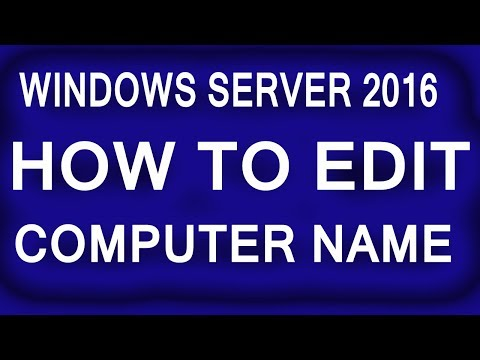 How To Change The Name of Windows Server 2016 Machine || Windows server 2016 tutorial for beginners.