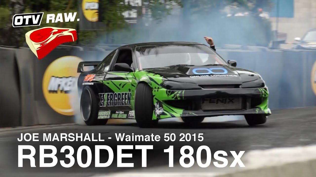 RAW: Joe Marshall - RB30DET Nissan 180sx - D1NZ Waimate 50 (2015)