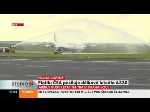 Airbus A330-300 SA (OK-YBA) - prvn pistn v Praze / first landing in Prague (14.5.2013)