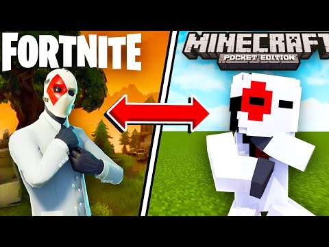 How To Get Fortnite Skins In Minecraft Pocket Edition! (Minecraft PE)