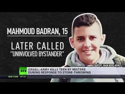 Israeli forces 'mistakenly' kill 15yo bystander in stone-throwing incident