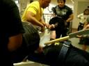 John Hudson presses 695 pounds on 1 board