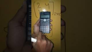 Matrix square using your calculator casio(fx-991MS-in hindi)