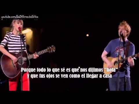 Taylor Swift Ft Ed Sheeran - Everything Has Changed (subtitulada En Español) video
