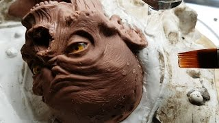 Sculpting a Zombie from Monster Clay Part 2 - Making a Mould