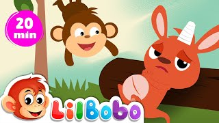 Five Little Monkeys, Four Little Kangaroos... | Little BoBo Nursery Rhymes - FlickBox Kids