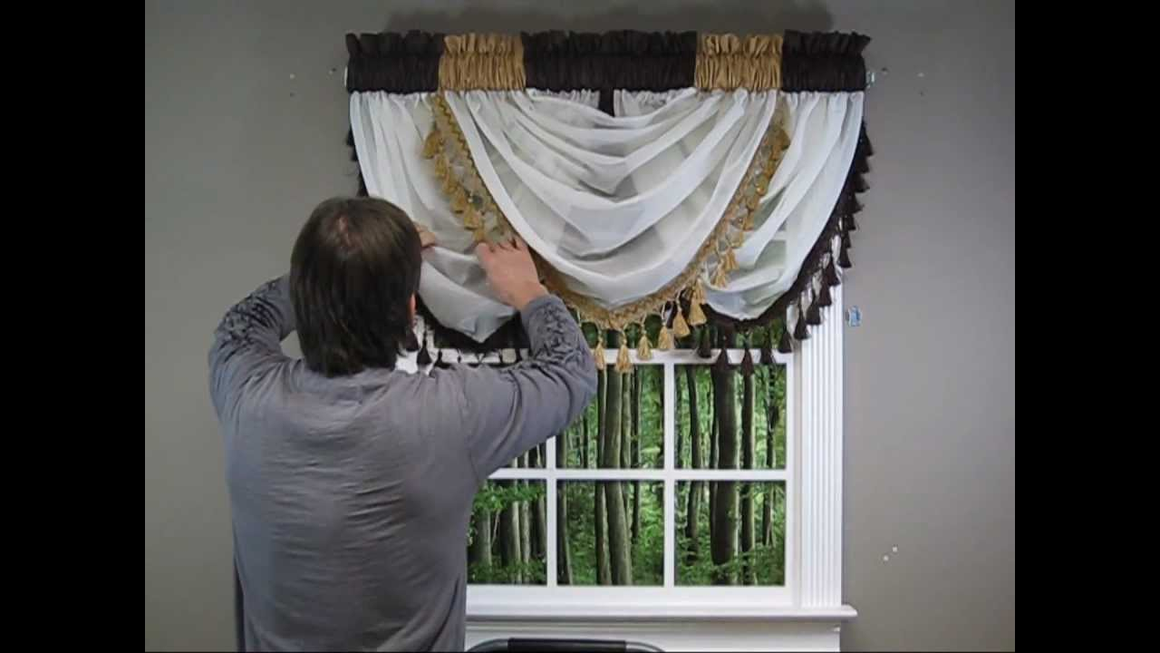 Waterfall Valance How To Hang Youtube