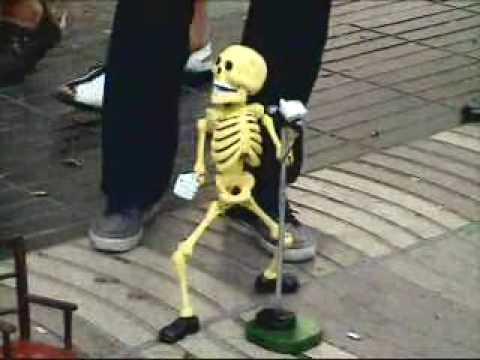 Dancing Skeleton Man   Funny! video