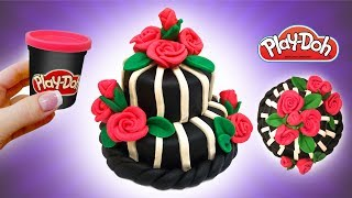 Dolls Food . Monster High Cake. Play Doh for Kids and Beginners. DIY Video for Kids