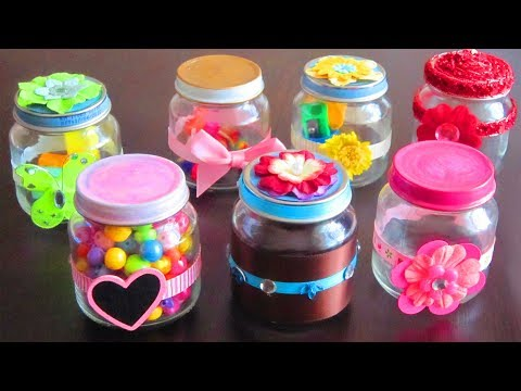 How to make decorative gift containers out of recycled - Tarros cristal pequenos ...