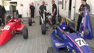 upload 5x Formula Ford racing cars being prepped Brands hatch Formula Ford festival 21Oct18 1246p 77