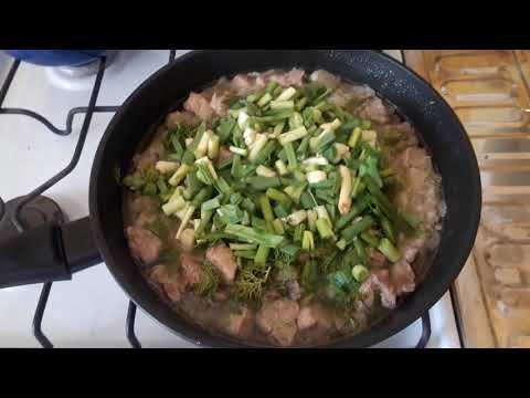 Свинина с луком и чесноком за 2 минуты!
