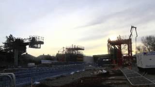 Construction of new Road over Rail bridge (timelapse)