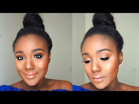 Simple Everyday Summer Makeup Tutorial + Sweat Proof Makeup Tips for Black Women