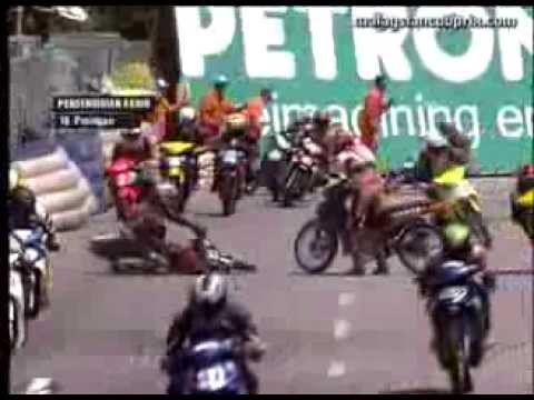 Round 5 Teluk Intan - Best of Crashes - PETRONAS AAM Malaysian Cub Prix Championship