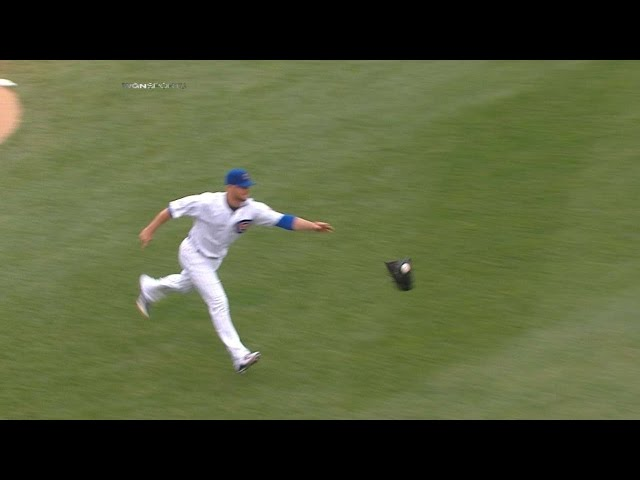 Lester tosses glove to make the out at first