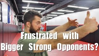 The Right Mindset when Rolling With Stronger People in BJJ