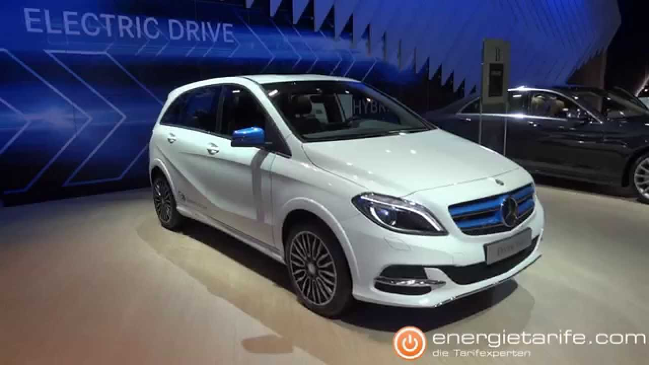 Elektroauto mercedes benz b250e electric drive european motor show brussels youtube