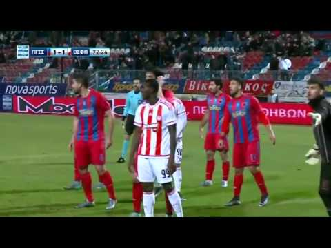 Panionios vs. Olympiakos Piraeus  1 - 3 All Goals (Super League - 3 January 2016)