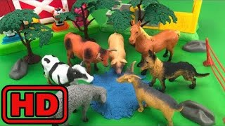 Kid -Kids -Farm Barn Terra Playset with Fun Animals Toys For Kids/Animal Planet Toy Unboxing/ZOO An