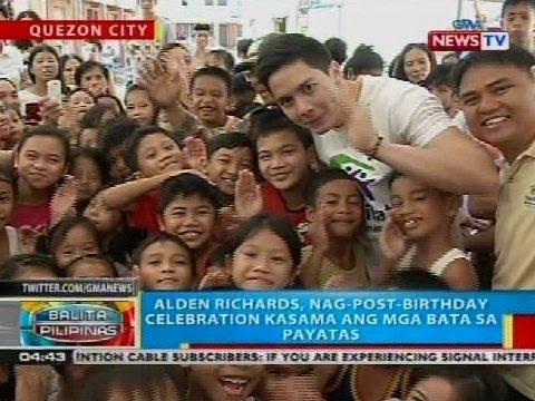 Alden Richards, nag-post-birthday celebration kasama ang mga bata sa Payatas