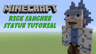 Minecraft Tutorial: Rick Sanchez (Rick and Morty) Statue
