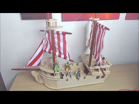 Lets Play With The Early Learning Center Giant Wooden Pirate Ship Toy