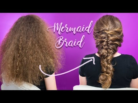 How to do a Romantic Mermaid Braid. Hair Tutorial for Beginners in Real Time. Curly Red Hair