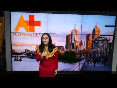 Florean, IFLC student from Indonesia is at ABC studios