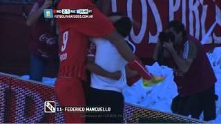 Gol de Mancuello.Independiente 2 Racing 1.Fecha 5. Torneo Primera División 2014.FPT
