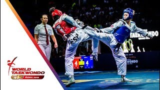 Roma 2018 World Taekwondo GP -Final [Female -57Kg] JONES, JADE(GBR) Vs CALVO GOMEZ, MARTA(ESP)