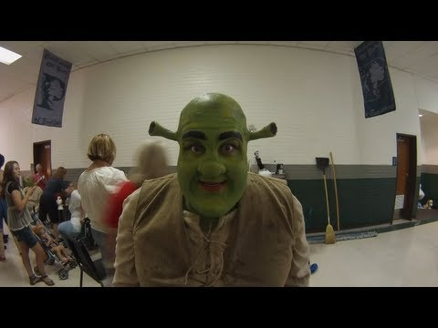 Becoming Shrek - prosthetics and makeup timelapse