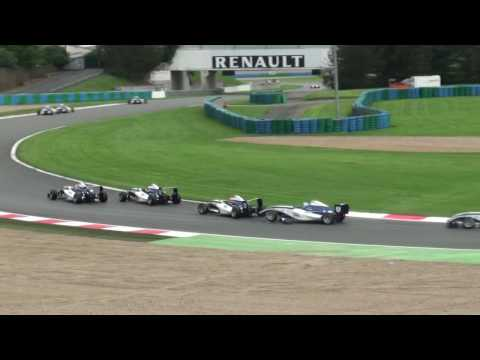 English- Chain reaction during the F4 Eurocup 1.6 Race (former Formula Auto Sport Academy) at Magny-Cours -Fran&Atilde;&sect;ais- R&Atilde;&copy;action en chaine pendant la course 2 ...