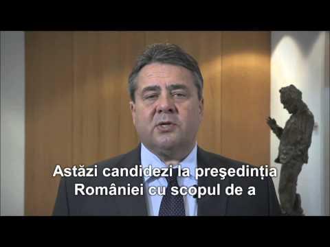 Sigmar Gabriel îl susține pe VICTOR PONTA