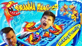 PIRANHA FISH GAME! Family Fun Gaming Day - Winner Gets a LEGO with HobbyFamilyTV