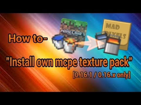 Minecraft PE 0.16.1 - How to- 'Install own mcpe texture pack'