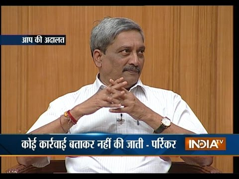 Aap Ki Adalat: Manohar Parrikar opens up on India's response to growing terrorism in the country