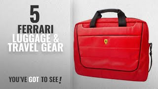 Top 10 Ferrari Luggage & Travel Gear [2018]: Ferrari Scuderia Computer Bag - Red - Black Piping -