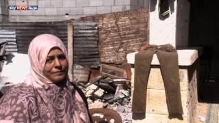 سكان المقابر في غزة يزاحمون الأموات