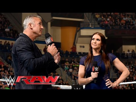 Stephanie McMahon interrupts her brother: Raw, April 25, 2016