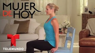 Mujer De Hoy | Chair Exercises to Tone Your Abs and Belly | Telemundo