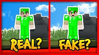 FAKE ARMOR TROLLING in MINECRAFT! Is THIS Emerald Armor Real or Fake?