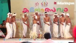 Vanchipattu participants performing@kalothsavam 2016